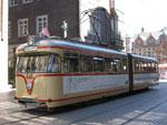 Foto und elektronische Grußkarte von der Historischen Straßenbahn 446 in Bremen
