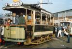 Foto und elektronische Grußkarte vom Historischen Straßenbahn-Triebwagen in Bremen