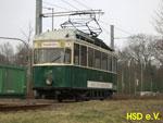 Foto und elektronische Grußkarte vom Triebwagen 28 der Historischen Straßenbahn Dessau
