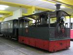 Foto und elektronische Grußkarte von der Dampftramway im Wiener Straßenbahnmuseum