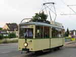 Foto und elektronische Gru�karte vom Triebwagen 96 der VHAG Bogestra