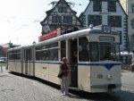 Foto und elektronische Grußkarte vom Triebwagen 178 der Erfurter Verkehrsbetriebe