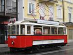 Foto und elektronische Grußkarte von der Straßenbahn GM 5 in Gmunden am Franz-Josef-Platz