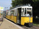 Foto und elektronische Grußkarte von einer Straßenbahn in Stuttgart-Stammheim