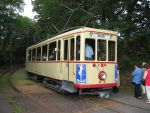 Foto und elektronische Gru�karte vom TW 107 der Bergischen Museumsbahnen Wuppertal