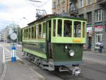 Foto und elektronische Grußkarte vom Wagen 1 des Tram-Museums Zürich auf der Museumslinie